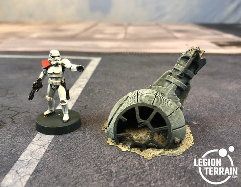 Crashed Imperial Fighter Fuselage Debris - LegionTerrain