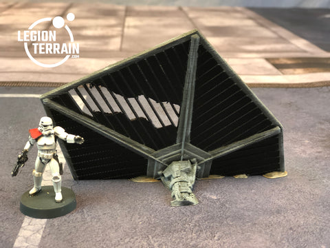 Crashed Imperial Fighter Wing Debris - LegionTerrain
