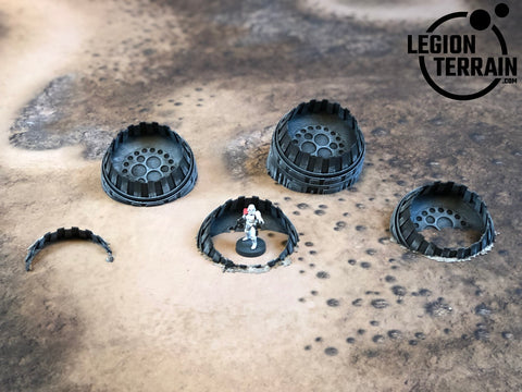 Crashed 5 Engine Set - LegionTerrain