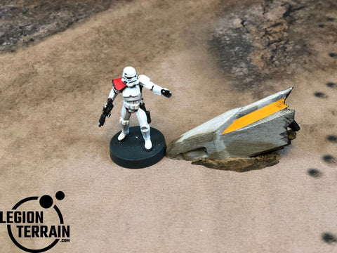 Crashed Rebel Fighter Nose Debris - LegionTerrain