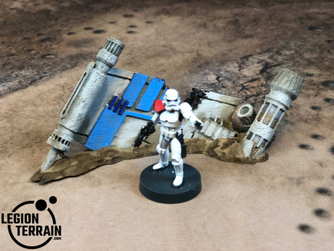 Crashed Rebel Fighter Wing B Debris - LegionTerrain