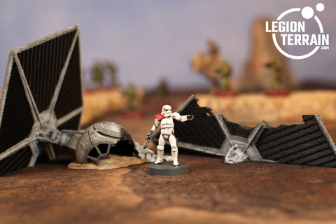 Crashed Imperial Fighter TWO - LegionTerrain