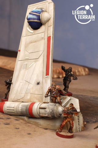 Crashed Republic Gunship A Wing - LegionTerrain
