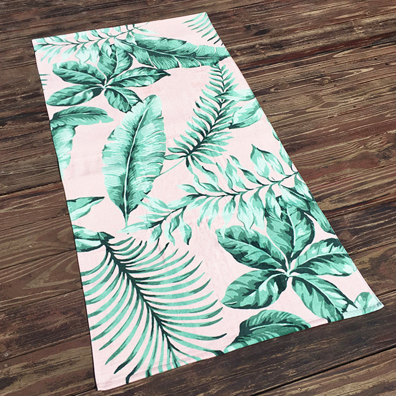 Fashion printed soft cotton beach towel