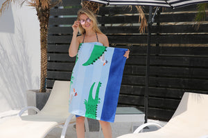 Lengthening thickening fashion printing soft cotton beach towel