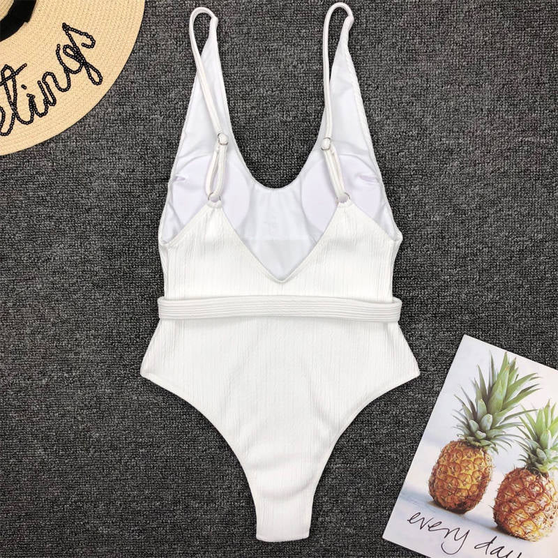 waistband sexy one-piece bikini