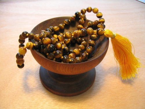 Tiger Eye Knotted Mala