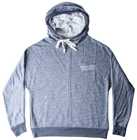 Unisex Cowl Neck Hoodie - Light Gray