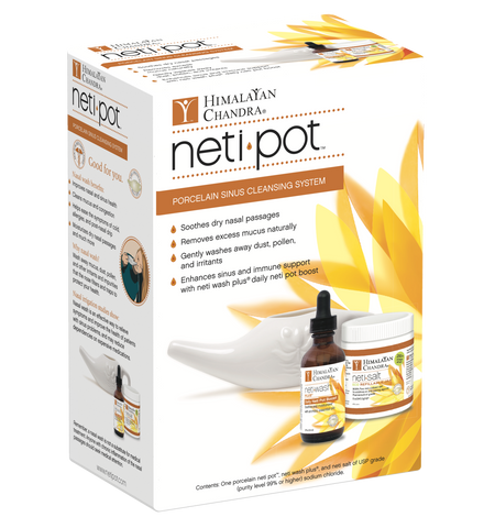 Porcelain Neti Pot Starter Kit