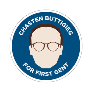 Chasten Buttigieg For First Gent Sticker - Boot Edge Edge Merch