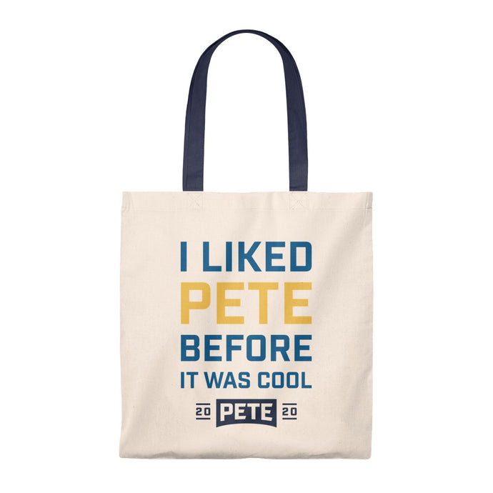 I Liked Pete Before It Was Cool Tote Bag - Boot Edge Edge Merch