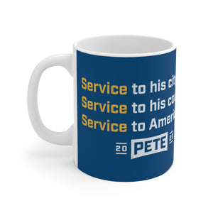 Pete Buttigieg Light Blue Service Mug