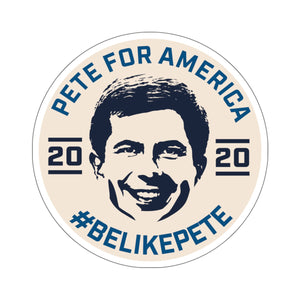 Pete For America #BeLikePete Beige Sticker - Boot Edge Edge Merch