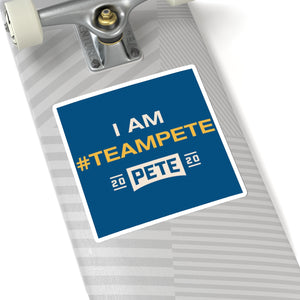 I Am #TeamPete Sticker - Boot Edge Edge Merch