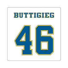 Load image into Gallery viewer, Buttigieg 46 Blue and Yellow Square Sticker - Boot Edge Edge Merch