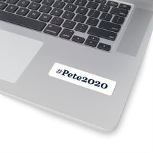 Load image into Gallery viewer, Blue on White #Pete2020 Bumper Sticker