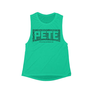 Pete Word Cloud Black Tank Top