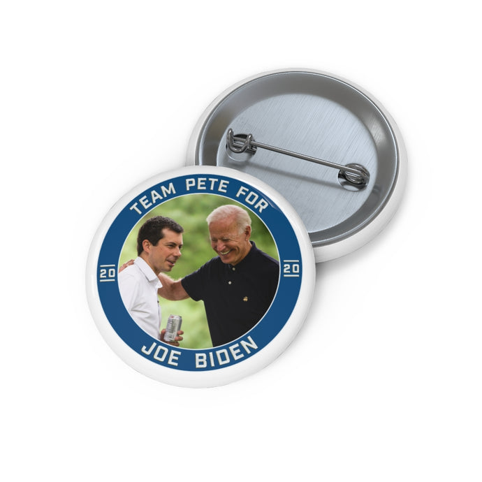 Team Pete For Joe Biden Button - Boot Edge Edge Merch