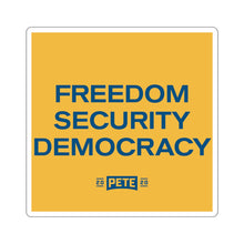 Load image into Gallery viewer, Freedom Security Democracy Sticker - Boot Edge Edge Merch