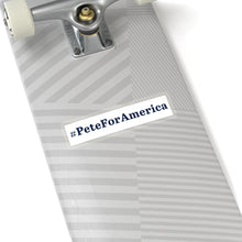 Load image into Gallery viewer, Blue on White #PeteForAmerica Bumper Sticker - Boot Edge Edge Merch