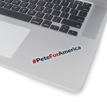 Load image into Gallery viewer, Red and Blue #PeteForAmerica Bumper Sticker - Boot Edge Edge Merch