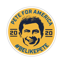 Load image into Gallery viewer, Pete For America #BeLikePete Yellow Sticker - Boot Edge Edge Merch