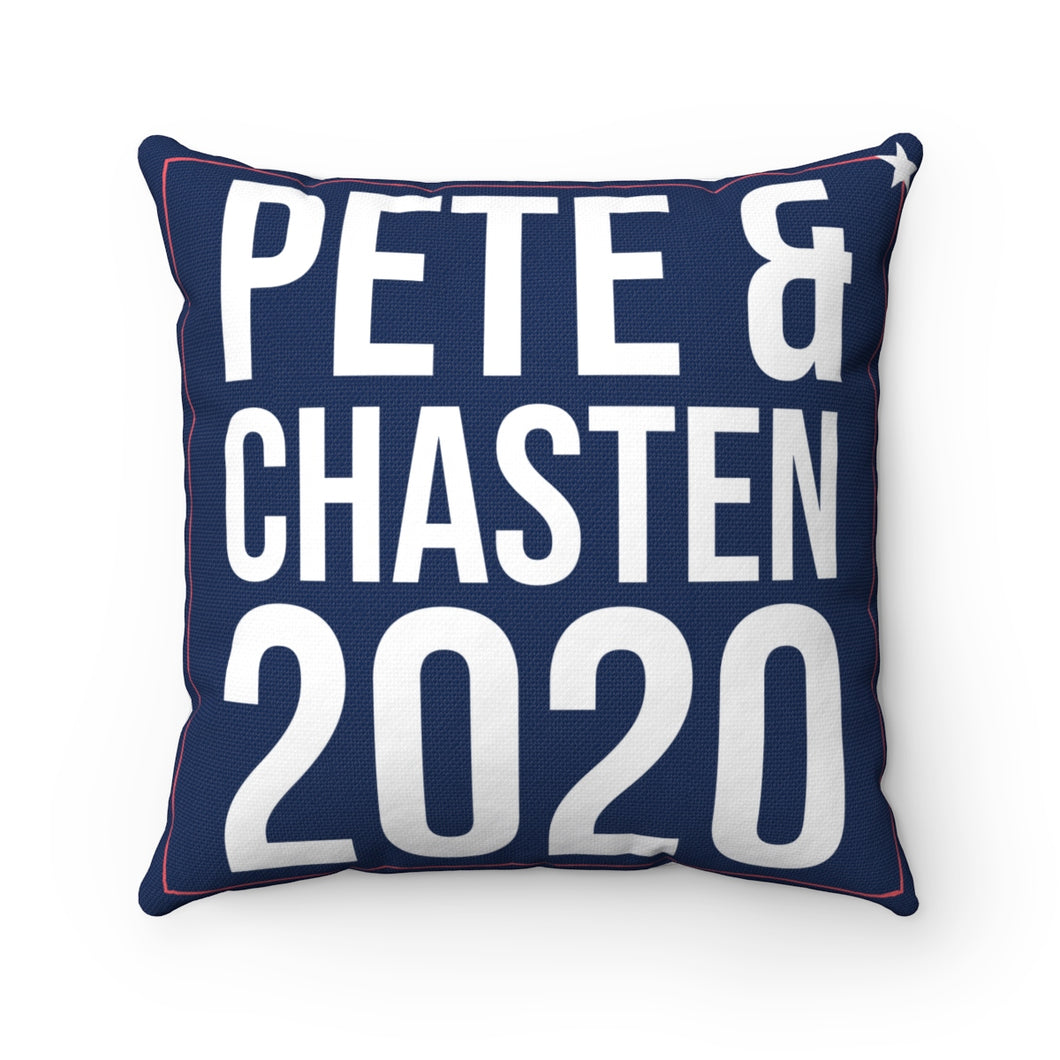 Pete & Chasten 2020 Pillow - Boot Edge Edge Merch