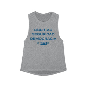 Libertad, Seguridad, and Democracia Tank Top - Boot Edge Edge Merch