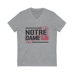 Notre Dame For Pete Buttigieg Short Sleeve V-Neck Tee - Boot Edge Edge Merch