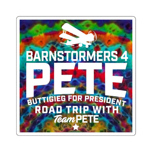 Tie Dye Barnstormers 4 Pete Sticker - Boot Edge Edge Merch