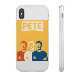 Three Color Pete On Yellow iPhone Case - Boot Edge Edge Merch