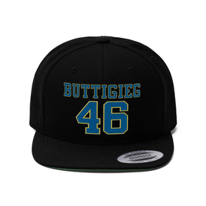 Buttigieg 46 Flat Bill Hat - Boot Edge Edge Merch