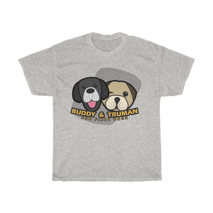 Buddy and Truman For First Dogs T-Shirt - Boot Edge Edge Merch