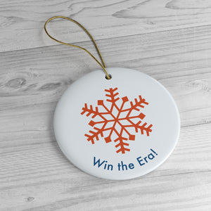 Win The Era Snowflake Ornament. - Boot Edge Edge Merch