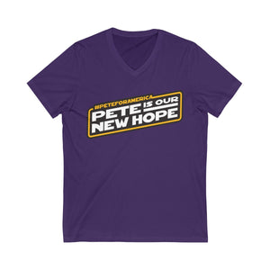 Pete Is Our New Hope Short Sleeve V-Neck Tee - Boot Edge Edge Merch