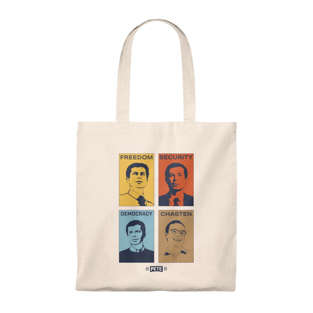 Four Faces Tote Bag - Boot Edge Edge Merch