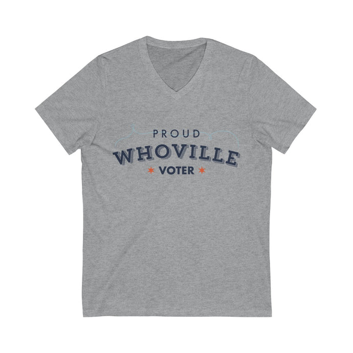 Proud Whoville Short Sleeve V-Neck Tee - Boot Edge Edge Merch