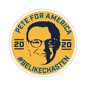 Pete For America #BeLikeChasten Yellow Sticker - Boot Edge Edge Merch