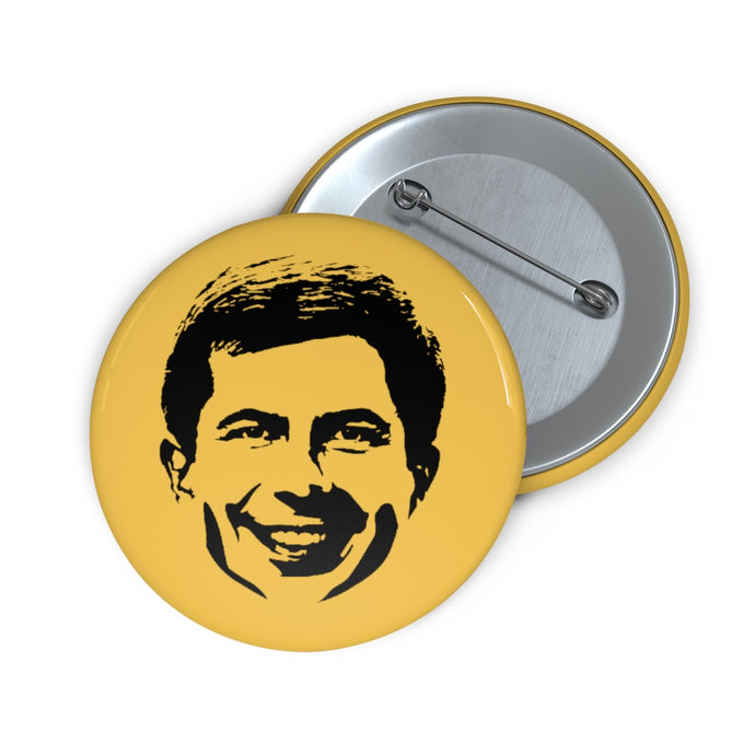 Smiling Pete Buttigieg Button - Boot Edge Edge Merch