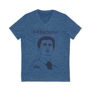 Pete Buttigieg Security Short Sleeve V-Neck Tee - Boot Edge Edge Merch