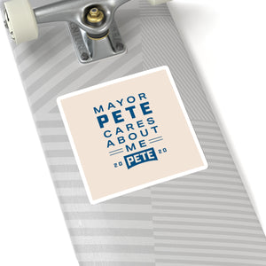 Mayor Pete Cares About Me Sticker - Boot Edge Edge Merch