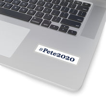 Load image into Gallery viewer, Blue on White #Pete2020 Bumper Sticker - Boot Edge Edge Merch