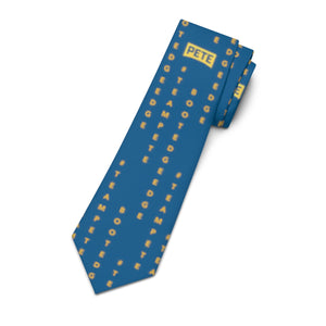 Pete Logo Necktie with #TeamPete and Boot Edge Edge Vertically. - Boot Edge Edge Merch