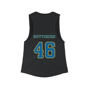 Buttigieg 46 Blue and Yellow logo Tank Top - Boot Edge Edge Merch
