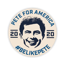 Load image into Gallery viewer, Pete For America #BeLikePete Beige Sticker - Boot Edge Edge Merch