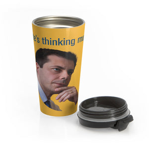 Pete's Thinking Travel Mug - Boot Edge Edge Merch