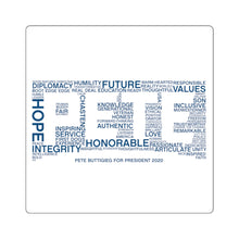 Load image into Gallery viewer, Pete Word Cloud Blue Sticker - Boot Edge Edge Merch