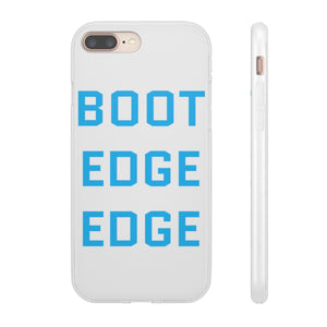 Light Blue Boot Edge Edge iPhone Case - Boot Edge Edge Merch