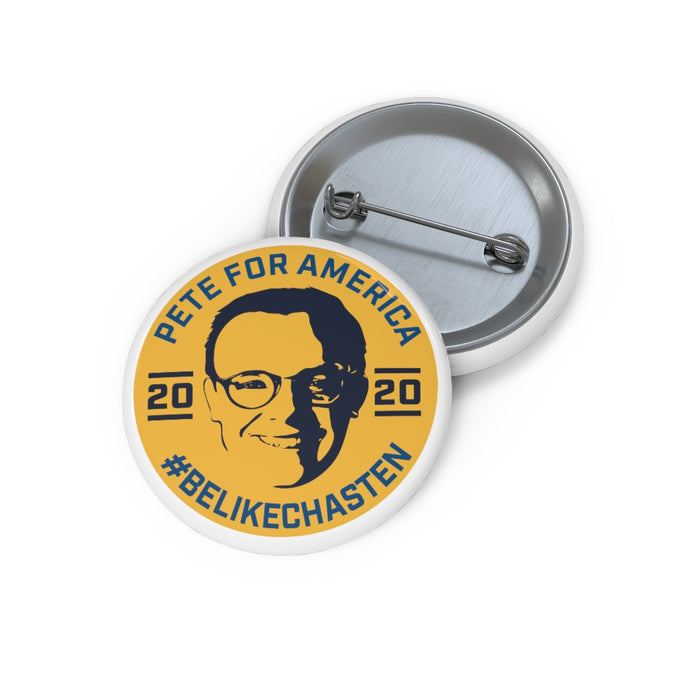 Pete For America #BeLikeChasten Button - Boot Edge Edge Merch
