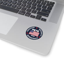 Load image into Gallery viewer, Freedom, Security, Democracy, Circular Sticker - Boot Edge Edge Merch